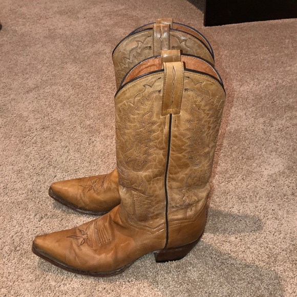 Dan Post Shoes - Dan Post brown leather cowgirl boots